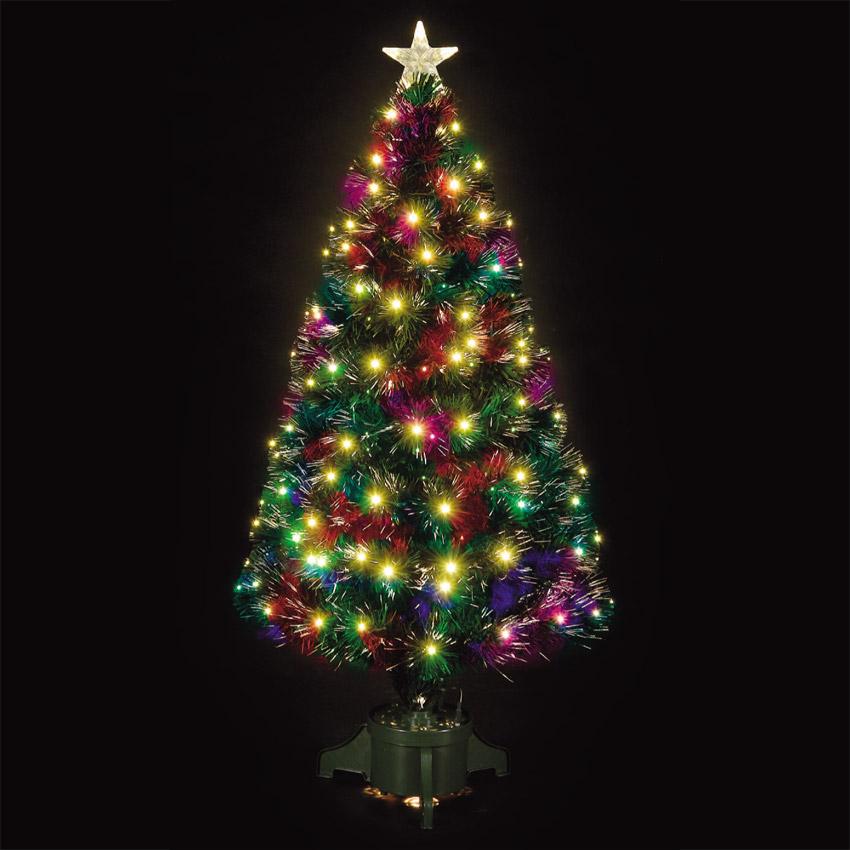 4ft Fibre Optic Comet Green Christmas Tree