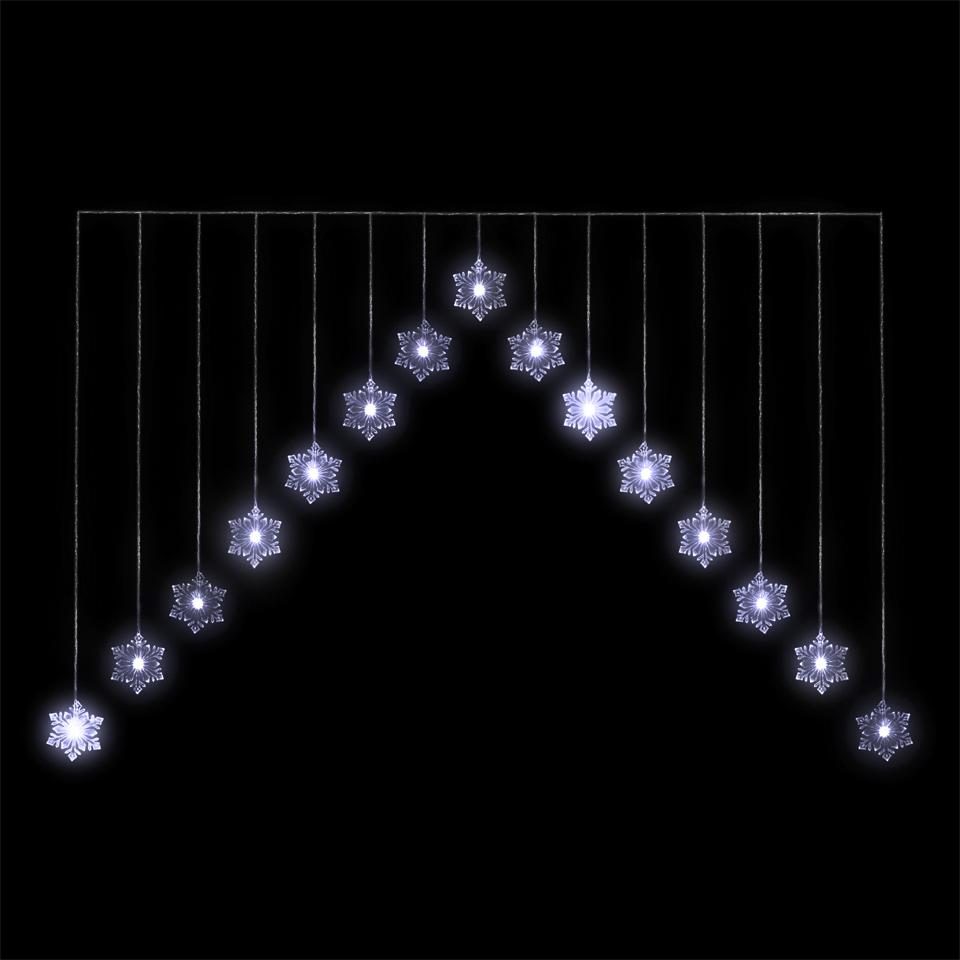 4ft Snowflake LED Chevron Light Curtain
