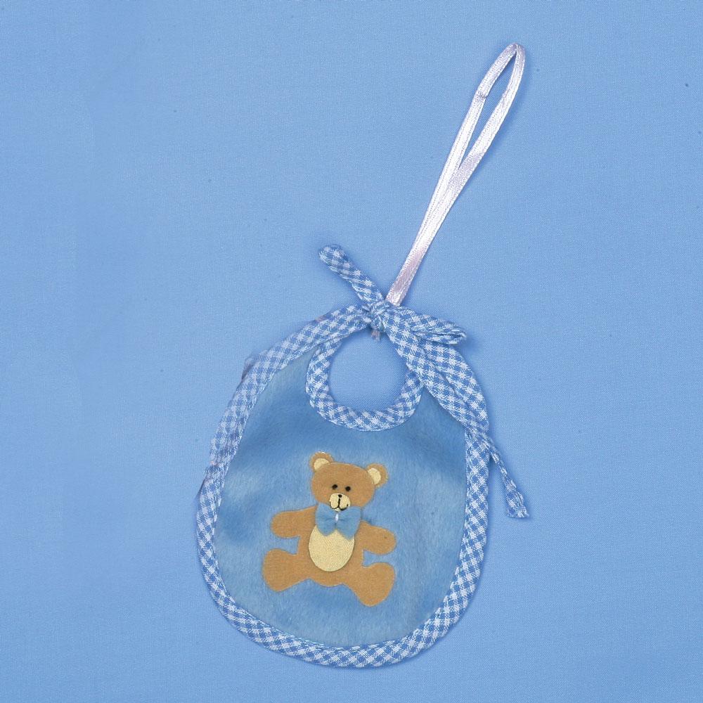Image of 10cm Blue Baby's Teddy Bear Bib