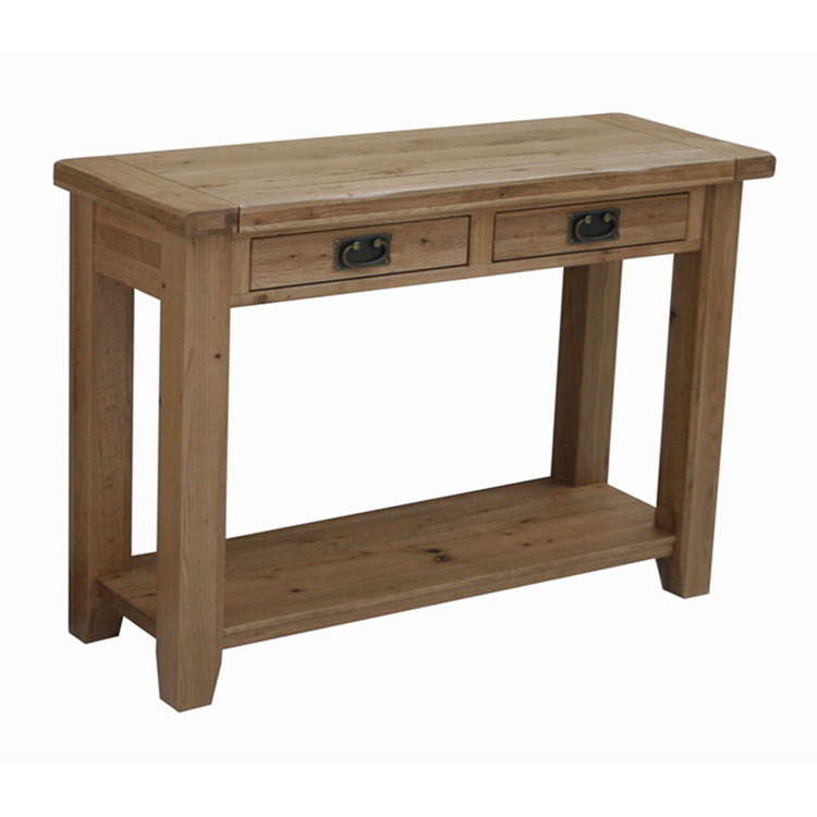 Java Oak 2 Drawer Console Table