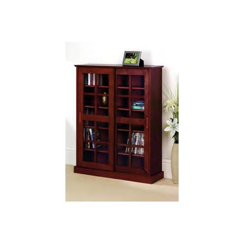 Mahogany Media Storage Cabinet