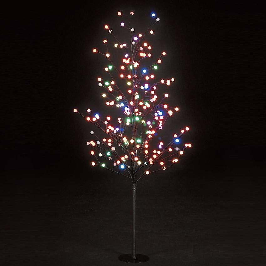 5ft Globe Tree with 200 Multi-Coloured LEDs