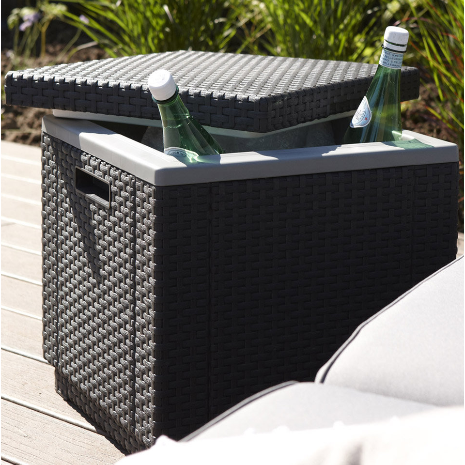 Allibert Graphite Grey Rattan Ice Cube Table