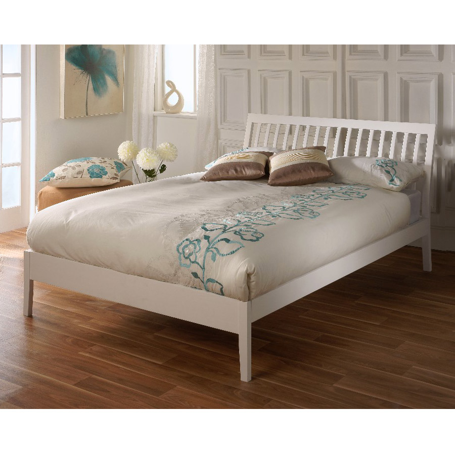 Limelight Ananke White 4ft 6in Double Bed Frame
