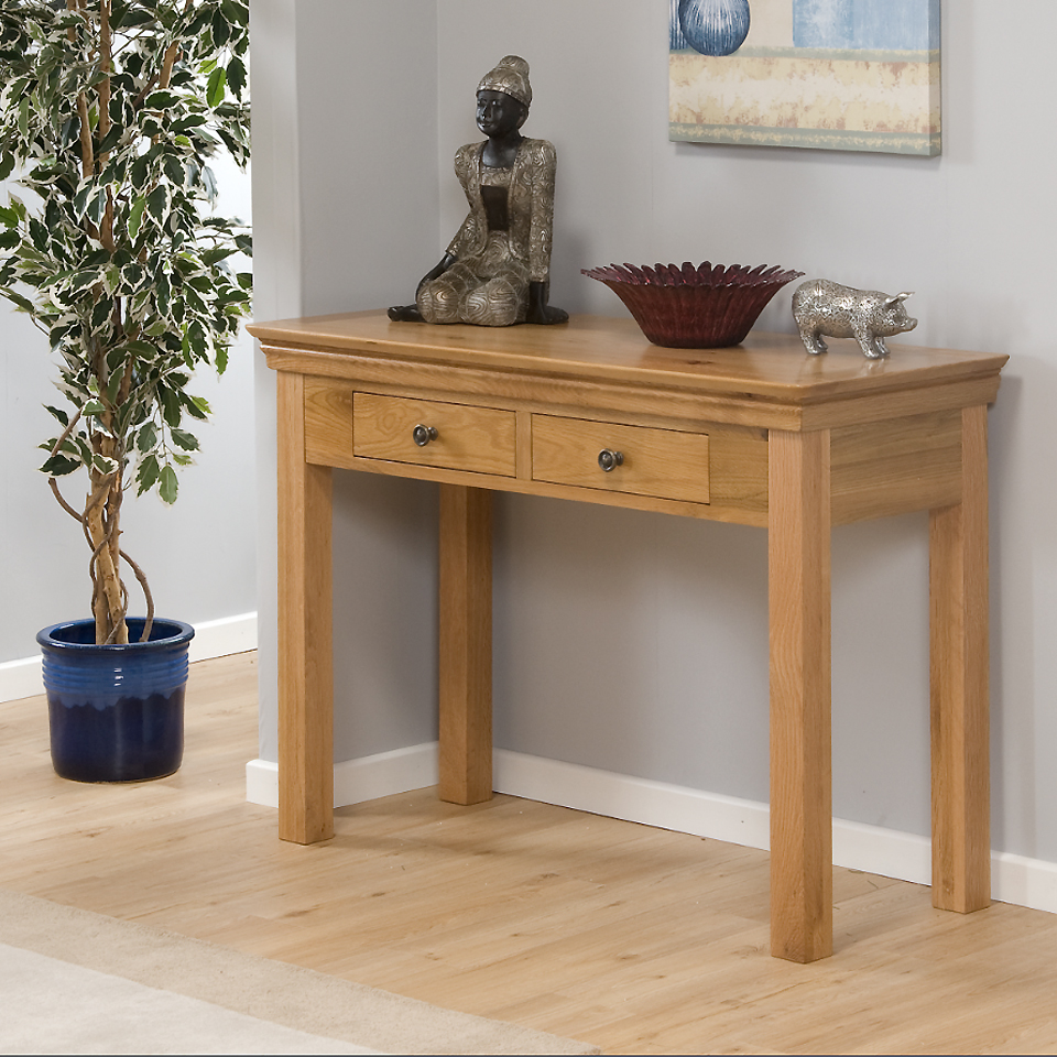 Provence Oak 2 Drawer Console Table