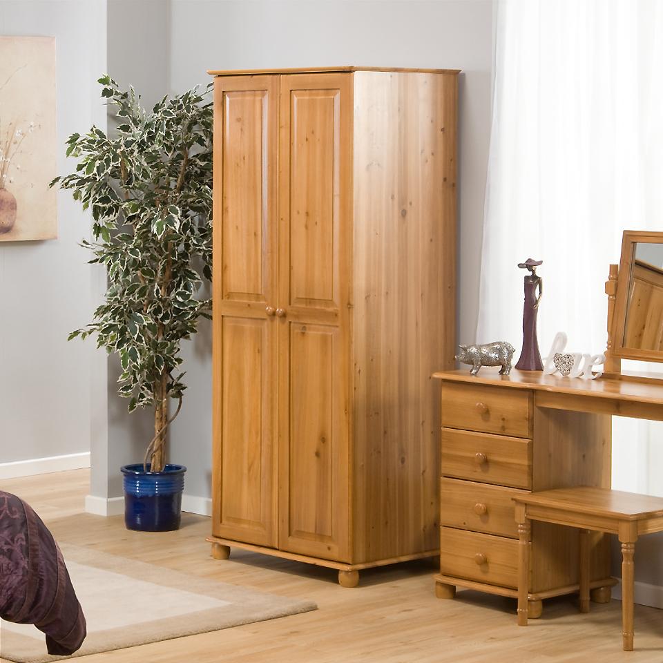Skagen Petite 2 Door Antique Pine Wardrobe