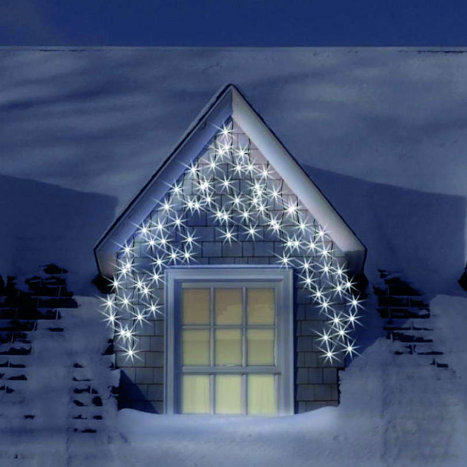 900 Ice White Icicle Lights