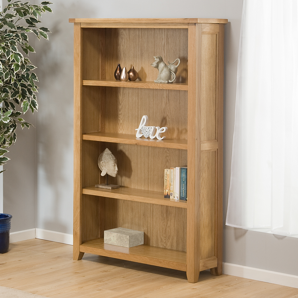 Image of Stirling Oak Large Bookcase