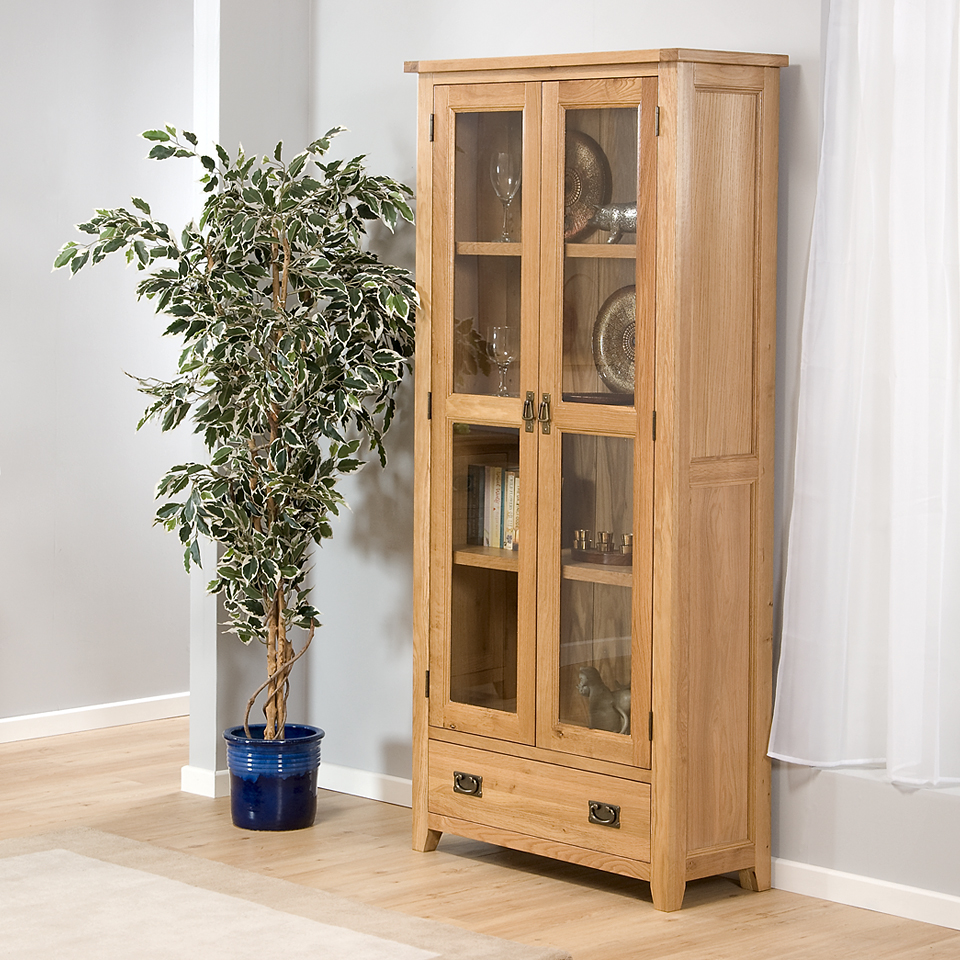 Stirling Oak Tall Display Unit