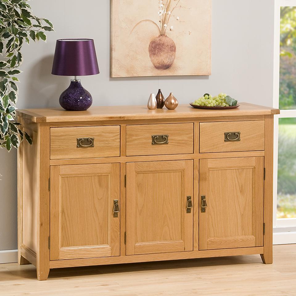 Stirling Large Oak Sideboard