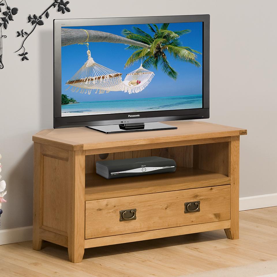 Stirling Oak Corner TV Unit