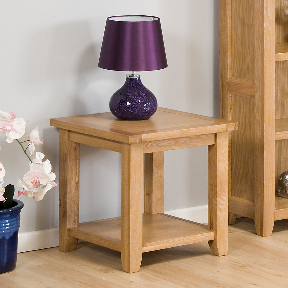 Stirling Oak Lamp Table