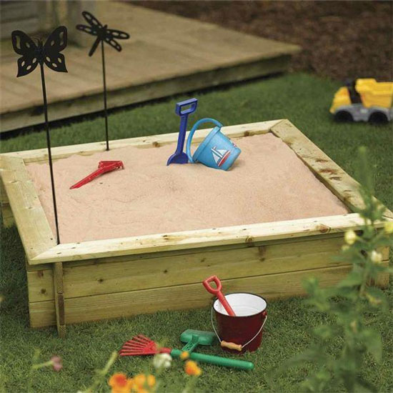Childrens Wooden Sandpit