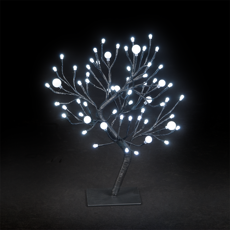 18in/45cm Dual Size Globe Tree with 64 Ice White LEDs