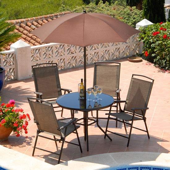 Deluxe Rimini Bronze Patio Furniture Set