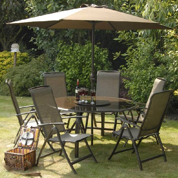 Buy cheap Folding glass dining table pare Sheds & Garden Furniture p