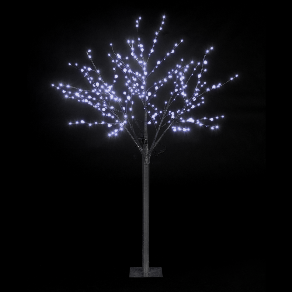 180cm/6ft Outdoor & Indoor Dual Size Globe Tree With 200 Ice White LEDs