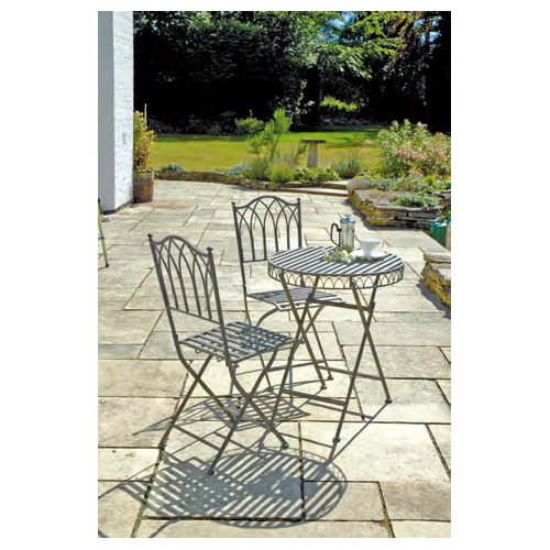 Versailles Antique Grey Iron Bistro Set