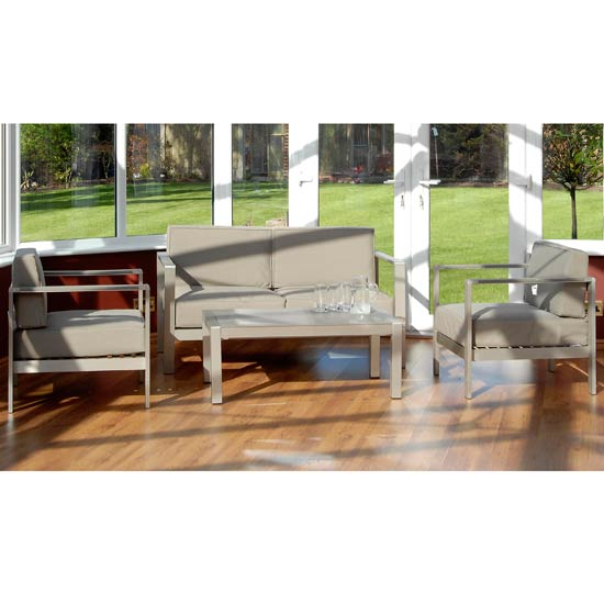 Wentworth 4 Piece Aluminium Lounge and Conservatory Set