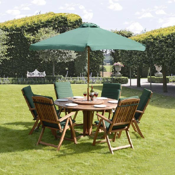 Winchester Lazy Susan 6 Seater Dining Set