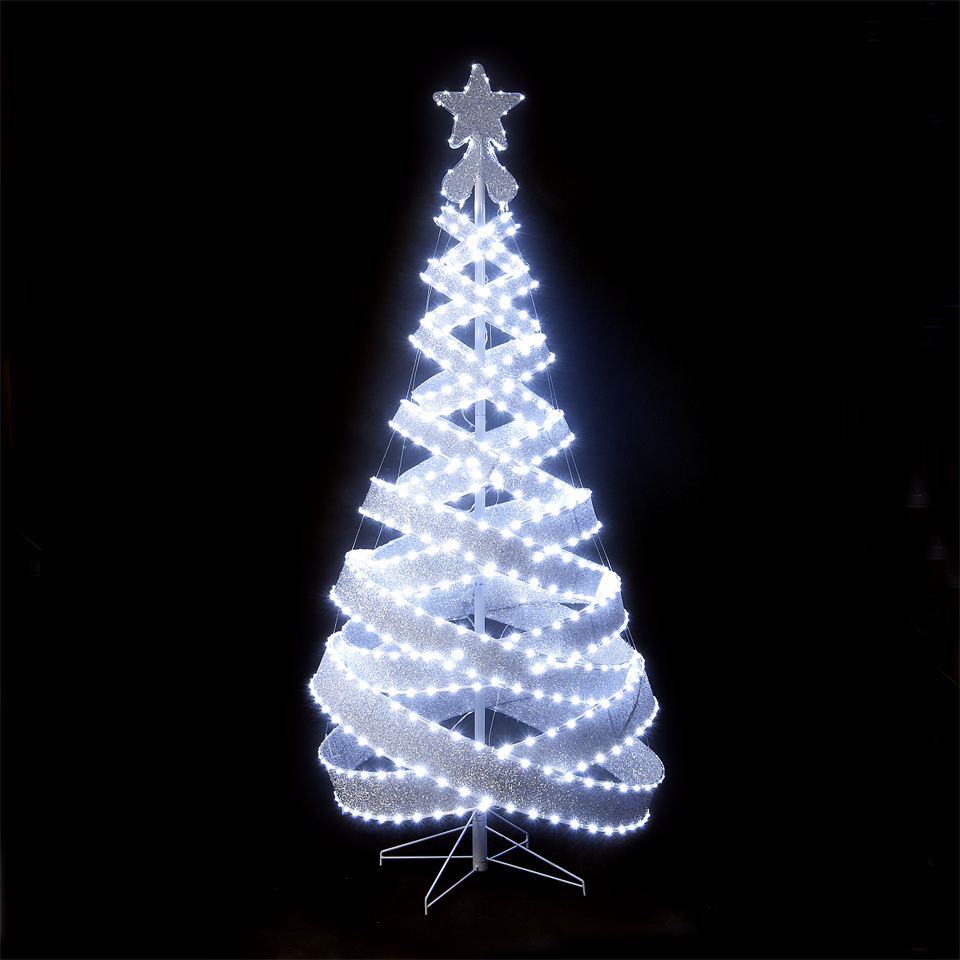 180cm6ft outdoor indoor silver 818 led spiral tape pop up christmas tree