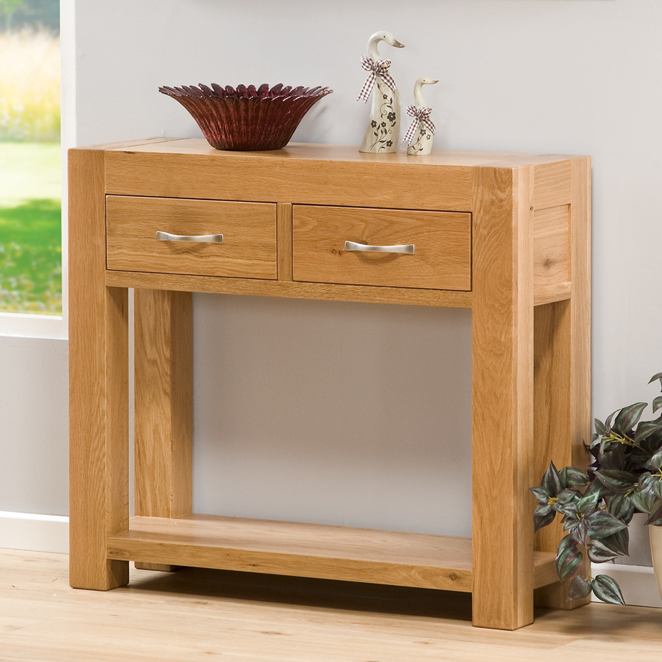 Chepstow Oak 2 Drawer Console Table