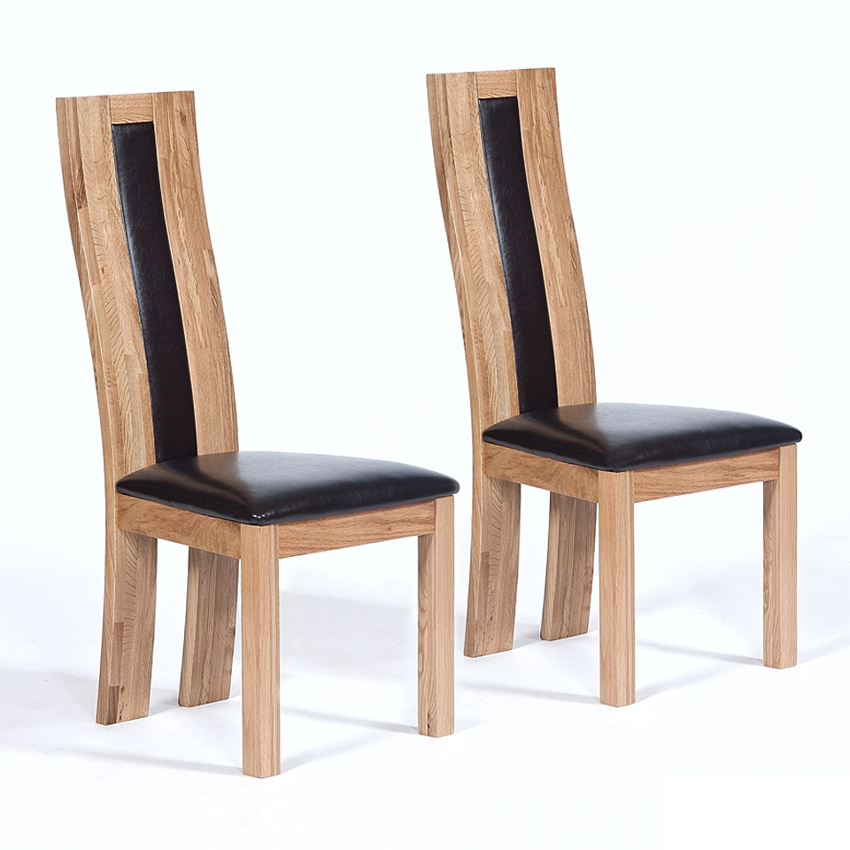Pair of Suffolk Oak Dining Chairs