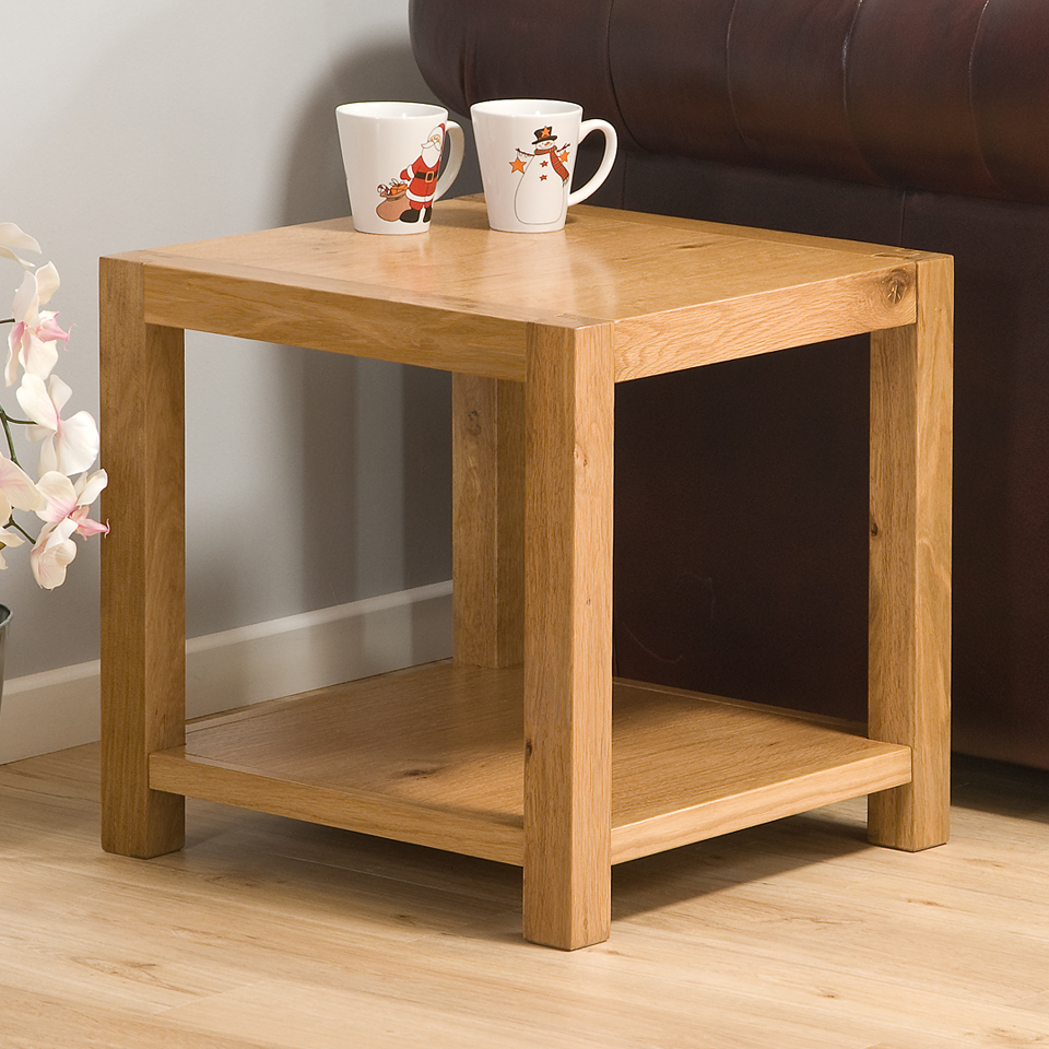 Chepstow Oak Square Lamp Table