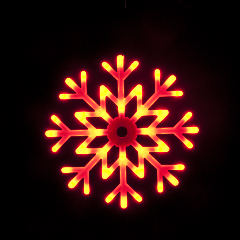 40cm / 16in Outdoor & Indoor Colour Changing Snowflake with 48 LEDs