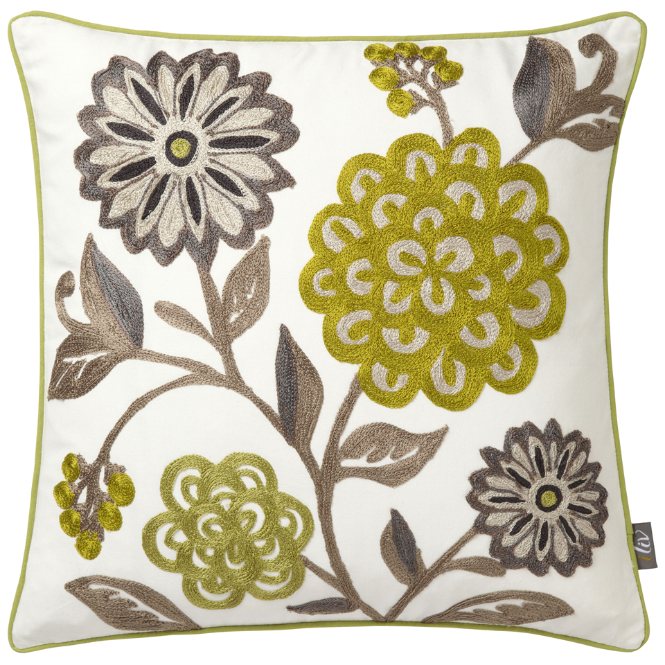 iliv Adara Sarasa Chartreuse Embroidered Cushion