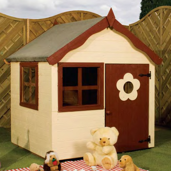 4ft x 4ft Snug Playhouse - Fully Assembled