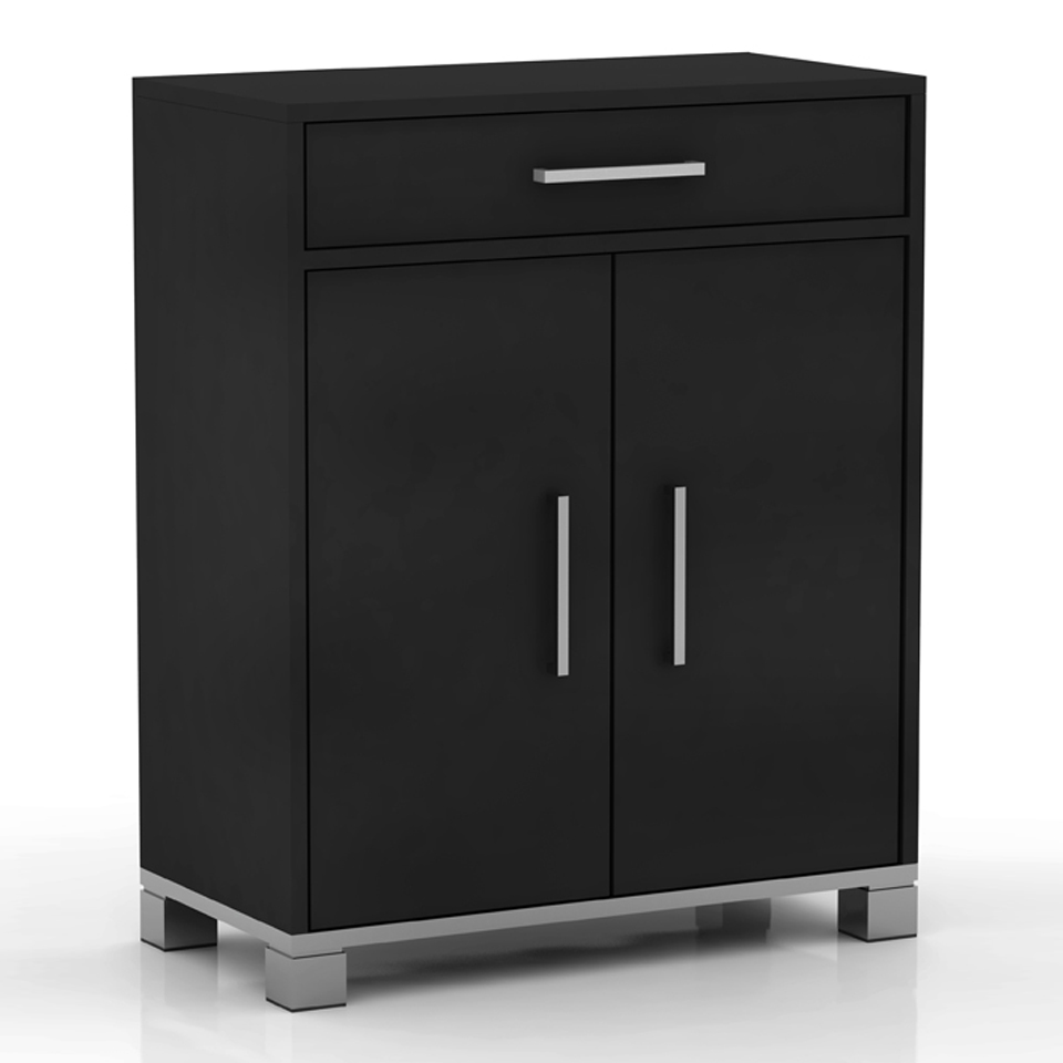 Sorrento 2 Door Black Sideboard