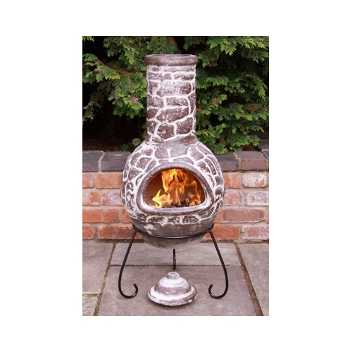 Cantera Brown Chimenea - Large