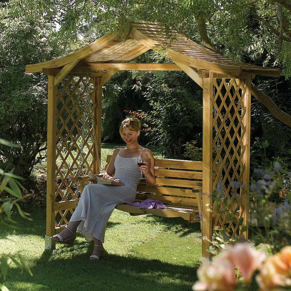 Dartmouth Wooden Arbour Swing Seat