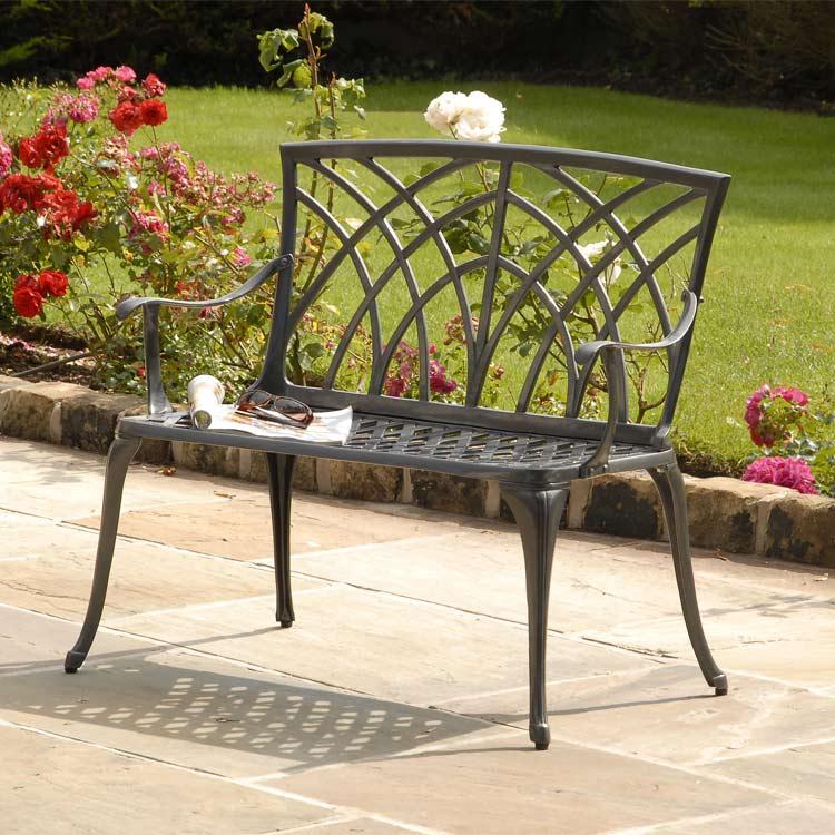 Horizon 2 Seat Aluminium Garden Bench