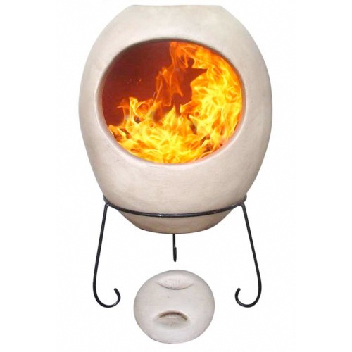 Ellipse Extra Large Chimenea - Beige