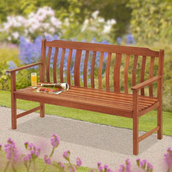 Highland 3-Seat Wooden Garden Bench