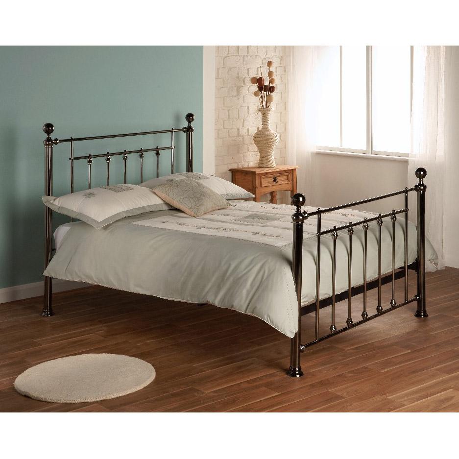 Limelight Libra 4ft 6in Black Chrome Double Bed Frame