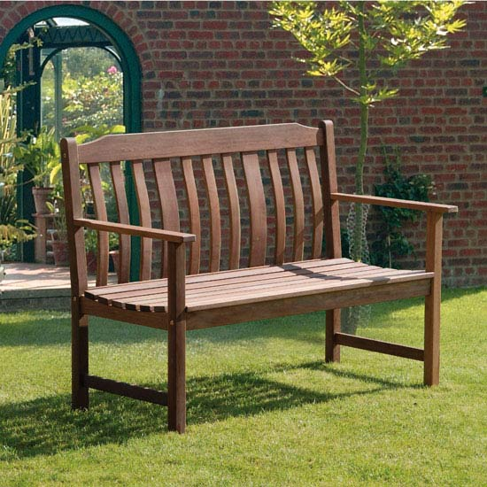 Highland 2 Seater Wooden Bench