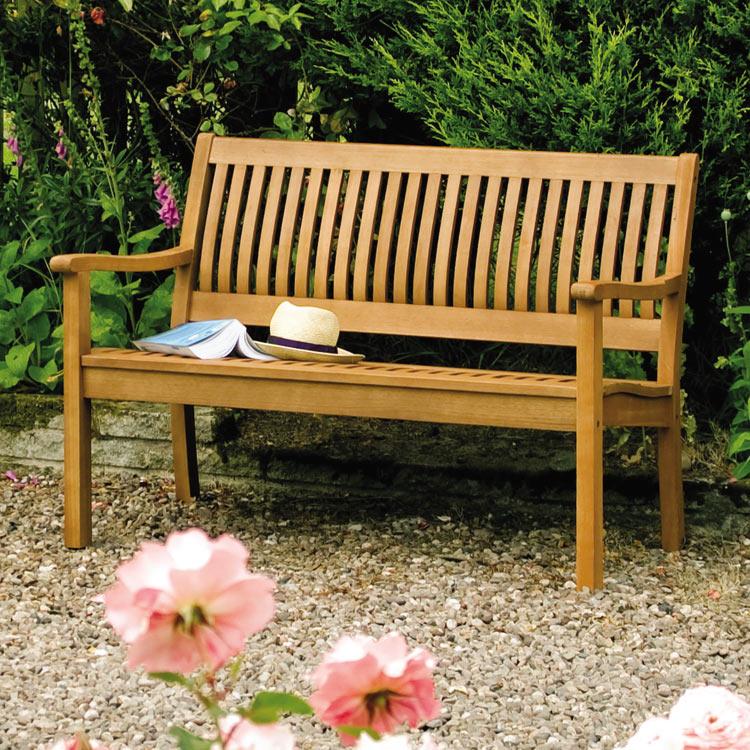 Willington 4ft Two-Seater Hardwood Bench