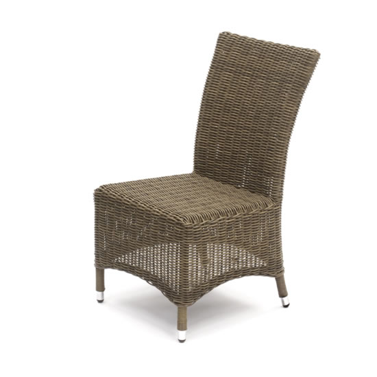 Lyon Rattan Highback Dining Chair (Two Tone Brown)