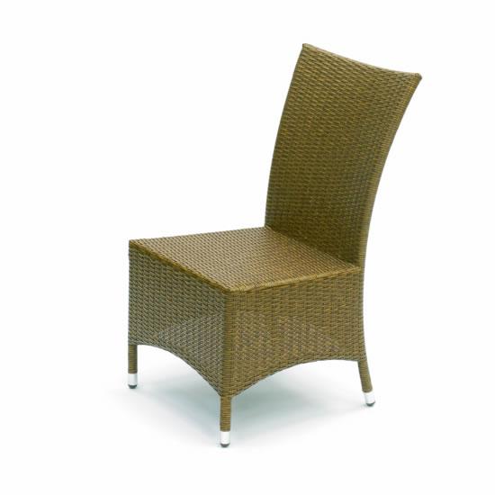 Manila Rattan & Aluminium Highback Dining Chair (Brown)
