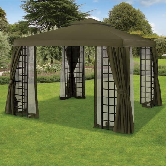 Replacement Curtains for Chocolate Brown Suntime Deluxe Gazebo