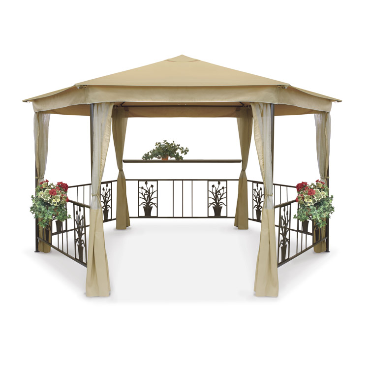 Replacement Beige Roof Canopy for Suntime Majestic Hexagonal Gazebo