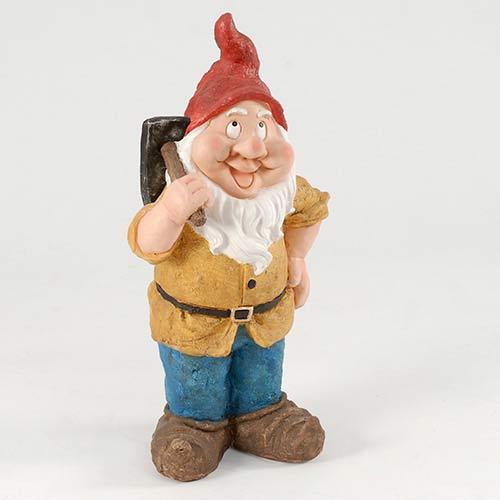 Medium Yellow Garden Gnome with Pickaxe