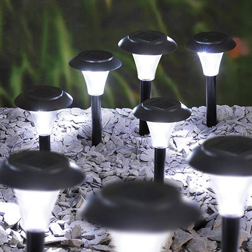 Set of 10 Hat Shaped Solar Lights