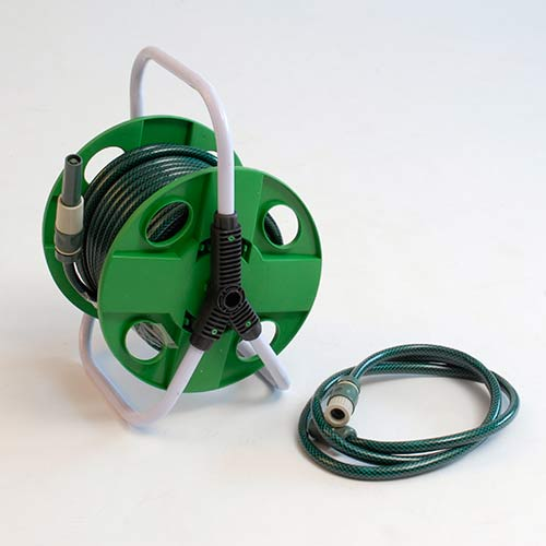 Hose Reel and Garden Hose