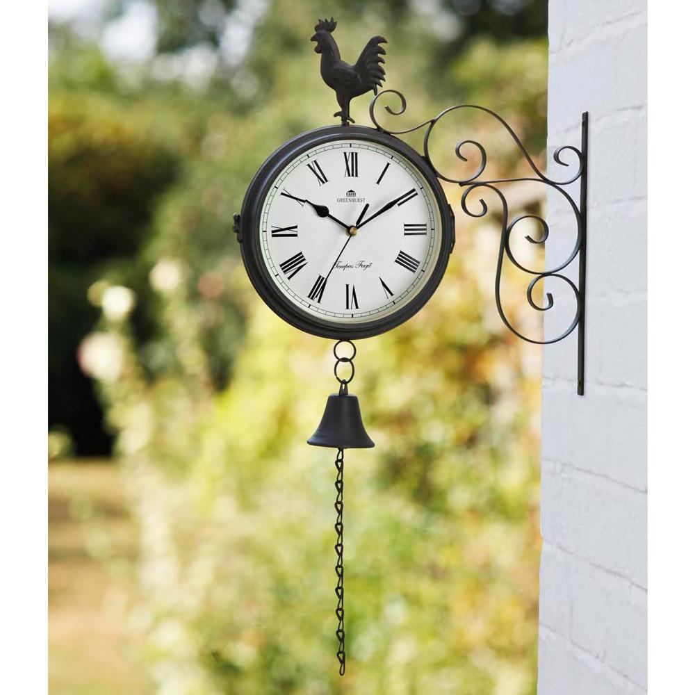 Dual Sided Cockerel Clock & Bell