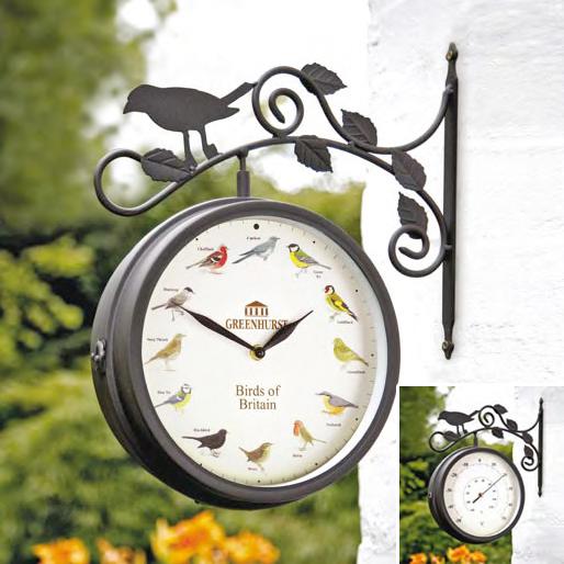 Birds Of Britain Swivel Clock & Thermometer