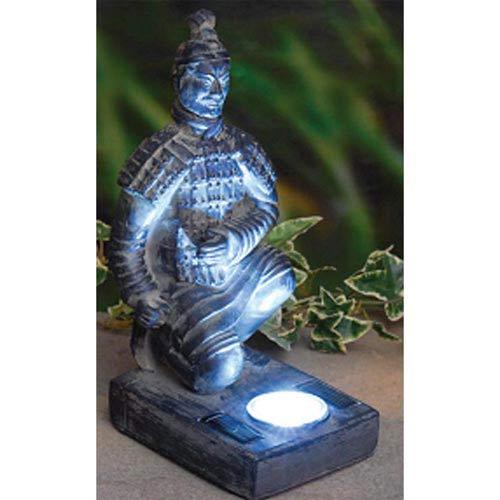 Kneeling Terracotta Warrior Solar LED Light